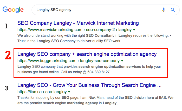 Langley to Vancouver search engine optimization services